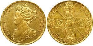 2 Guinea Reino de Gran Bretaña (1707-1801) Oro Ana de Gran Bretaña(1665-1714)
