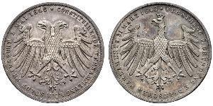2 Gulden 法蘭克福自由市 銀