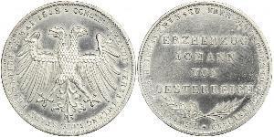 2 Gulden Ville libre de Francfort Argent