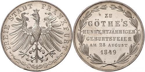 2 Gulden Città libera di Francoforte Argento