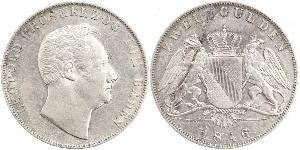 2 Gulden Grand Duchy of Baden (1806-1918) Argento Leopoldo di Baden(1790 – 1852)