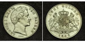 2 Gulden Regno di Baviera (1806 - 1918) Argento Ludovico I di Baviera (re)(1786 – 1868)