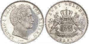 2 Gulden Reino de Baviera (1806 - 1918) Plata Luis I de Baviera(1786 – 1868)