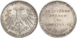 2 Gulden Freie Stadt Frankfurt Silber