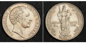 2 Gulden Königreich Bayern (1806 - 1918) Silber Maximilian II. Joseph (Bayern)(1811 - 1864)