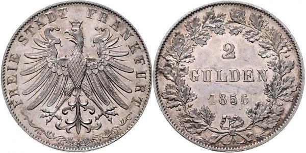 2 Gulden Free City of Frankfurt Silver