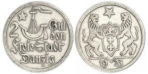 2 Gulden Gdansk (1920-1939) Silver