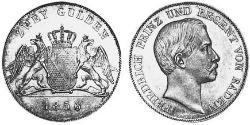 2 Gulden Grand Duchy of Baden (1806-1918) Silver Frederick I, Grand Duke of Baden (1826 - 1907)