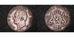 2 Gulden Grand Duchy of Hesse (1806 - 1918) Silver Louis II, Grand Duke of Hesse