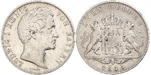 2 Gulden Kingdom of Bavaria (1806 - 1918) Silver Ludwig I of Bavaria (1786 – 1868)