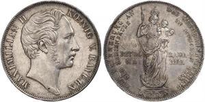 2 Gulden Kingdom of Bavaria (1806 - 1918) Silver Maximilian II of Bavaria (1811 - 1864)