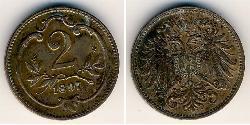 2 Heller Österreich-Ungarn (1867-1918) Bronze