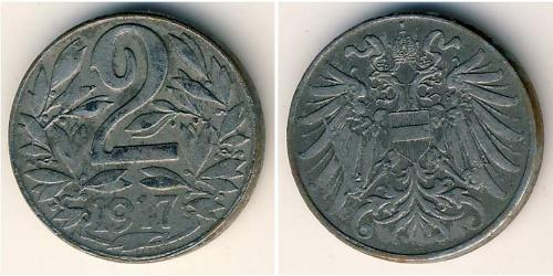 2 Heller Österreich-Ungarn (1867-1918) Stahl