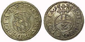 2 Kreuzer 德国 銀 Maximilian I, Elector of Bavaria (1573 – 1651)