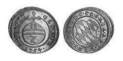 2 Kreuzer Electorate of Bavaria (1623 - 1806) Silver Maximilian III Joseph, Elector of Bavaria (1727 – 1777)