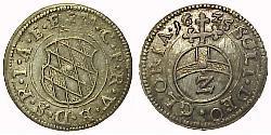 2 Kreuzer Germany Silver Maximilian I, Elector of Bavaria (1573 – 1651)