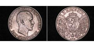 2 Krone 挪威 銀 哈康七世  (1872 - 1957)