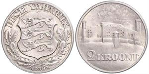 2 Krone Estonia (Republic) 銀