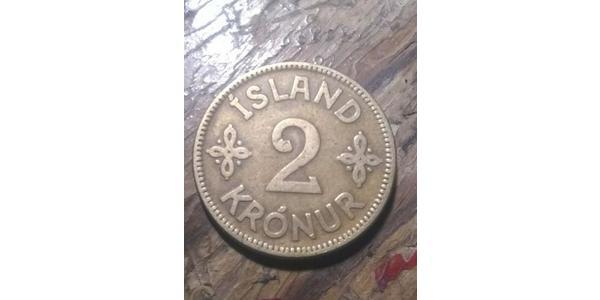 2 Krone Islanda Alluminio/Bronzo