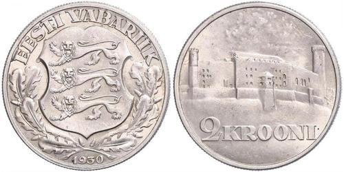 2 Krone Estonie (1991 - ) Argent