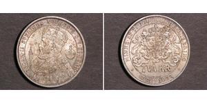 2 Krone Suède Argent Oscar II de Suède (1829-1907)