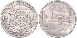2 Krone Estonia (1991 - ) Argento