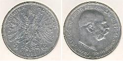 2 Krone Impero austro-ungarico (1867-1918) Argento