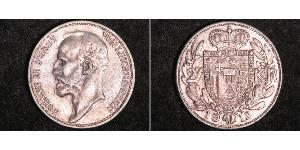 2 Krone Liechtenstein Argento Johann II, Prince of Liechtenstein (1840-1929)
