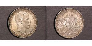 2 Krone Norvegia (1905 - ) Argento Haakon VII di Norvegia (1872 - 1957)
