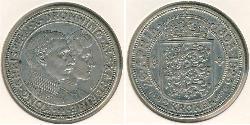2 Krone Dinamarca Plata Cristián X de Dinamarca (1870 - 1947)