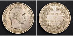 2 Krone Dinamarca Plata Christian IX de Dinamarca (1818-1906)