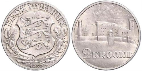2 Krone Estonia (Republic) Silver