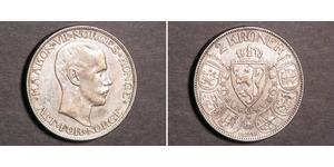 2 Krone Kingdom of Norway (1905 - ) Silver Haakon VII of Norway (1872 - 1957)