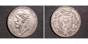 2 Krone Liechtenstein Silver Johann II, Prince of Liechtenstein (1840-1929)