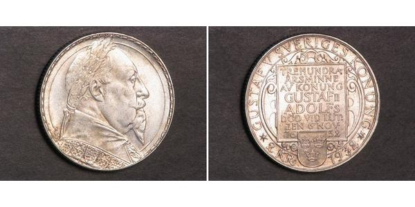 2 Krone Sweden Silver Gustavus Adolphus of Sweden (1594 – 1632)