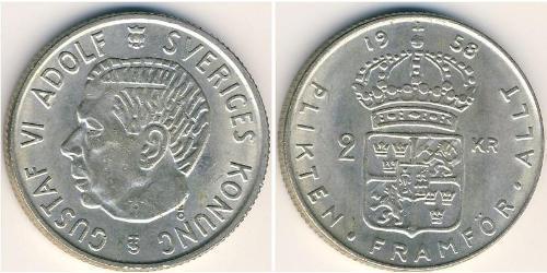 2 Krone Suecia