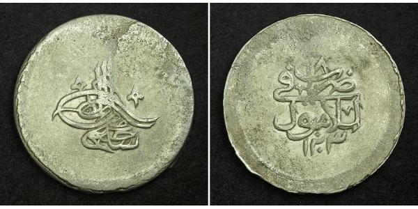 2 Kurush Impero ottomano (1299-1923) Argento Selim III