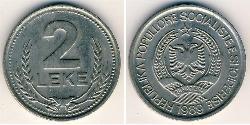 2 Lek Albania Copper/Nickel