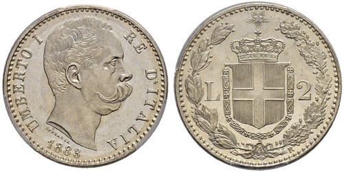 2 Lira Italie Argent