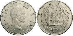 2 Lira Kingdom of Italy (1861-1946) Níquel/Acero inoxidable