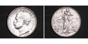 2 Lira Kingdom of Italy (1861-1946) Platinum/Silver Victor Emmanuel III of Italy (1869 - 1947)