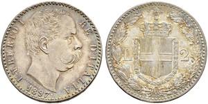 2 Lira Italien Silber