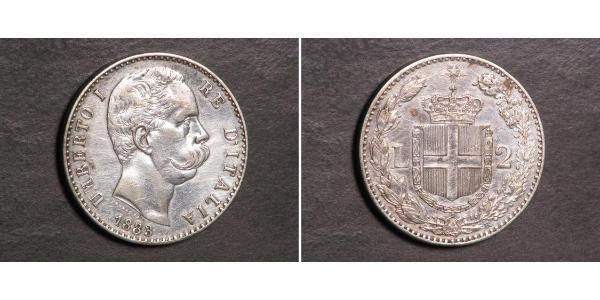 2 Lira Italy Silver