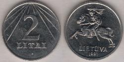 2 Litas Lithuania (1991 - ) Copper/Nickel