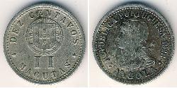 2 Macuta Portuguese Angola (1575-1975) Copper/Nickel