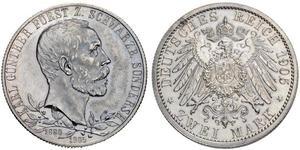 2 Mark 施瓦茨堡-松德爾斯豪森 (1599 - 1920) 銀
