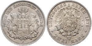 2 Mark 汉堡 / 德国 銀