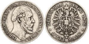 2 Mark Duchy of Mecklenburg-Schwerin (1352-1918) 銀 弗里德里希·弗朗茨二世 (梅克伦堡-什未林)