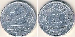 2 Mark German Democratic Republic (1949-1990) Aluminium