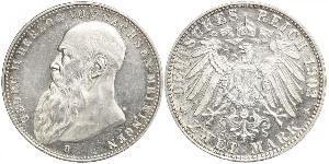 2 Mark Duché de Saxe-Meiningen (1680 - 1918) Argent Georges II de Saxe-Meiningen-Hildburghausen